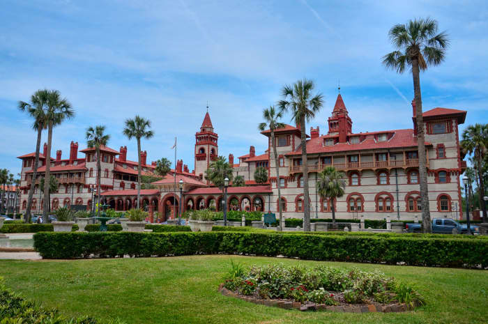 Flagler College in historic St. Augustine was built by Henry Flagler as the Ponce de Leon Hotel.