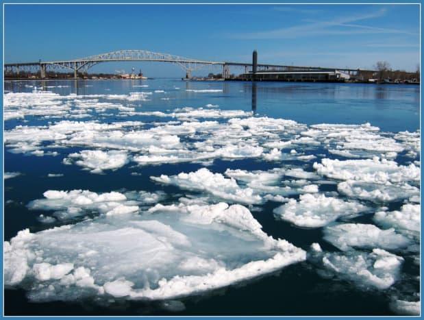 Blue Water Bridge in Port Huron, Michigan.
