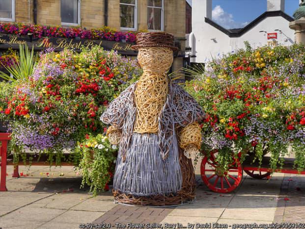 Spectacular floral displays at Bury St Edmunds