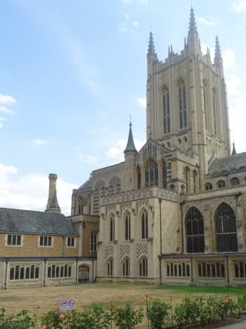 Rear view of St. Edmundsbury Cathedral