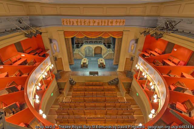 The auditorium of the Theatre Royal, Bury St Edmunds