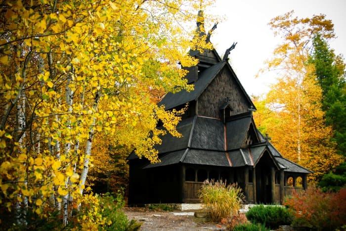 Stavkirke Church at Washington Island in Door County, Wisconsin