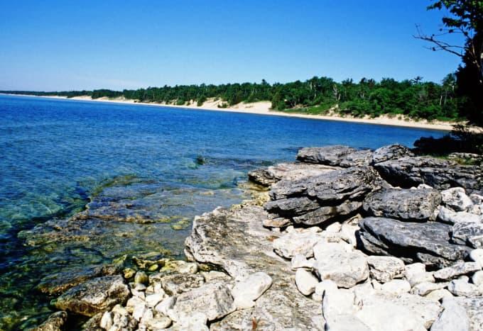 Whitefish Dunes State Park in Door County, Wisconsin