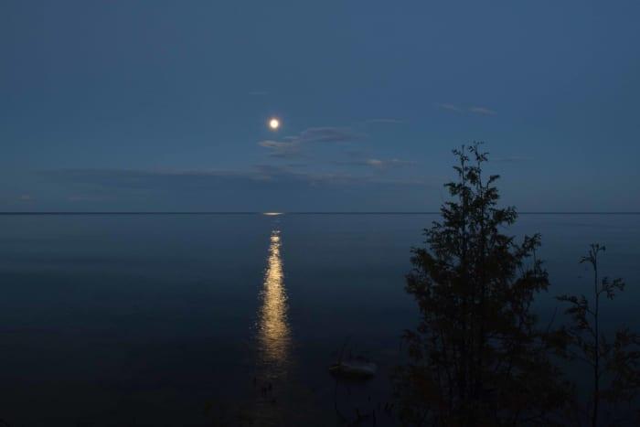 Moonrise over Lake Michigan in Bailey's Harbor, Wisconsin - Door County