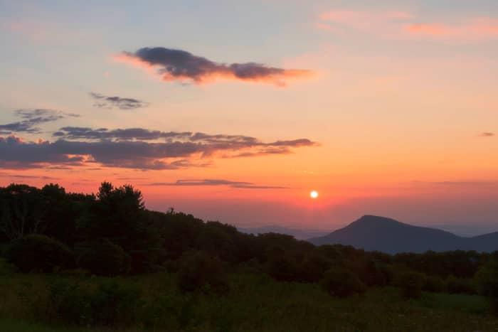 Sunrise overlooking Old Rag Mountain in Shenandoah National Park