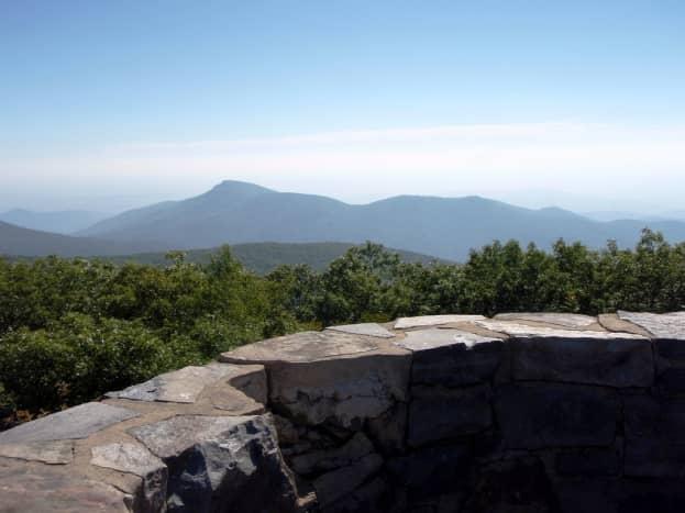 View from Hawksbill Mountain Summit at Shenandoah National Park
