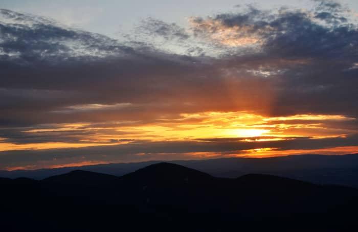 Amazing sunset off of Skyline Drive in Shenandoah National Park