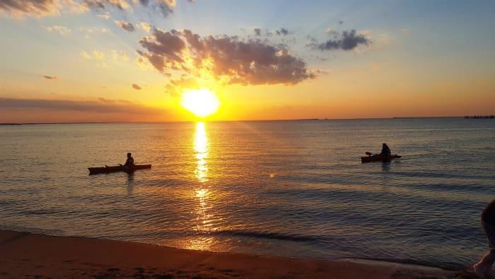 Sunset at First Landing State Park in Virginia Beach, Virginia