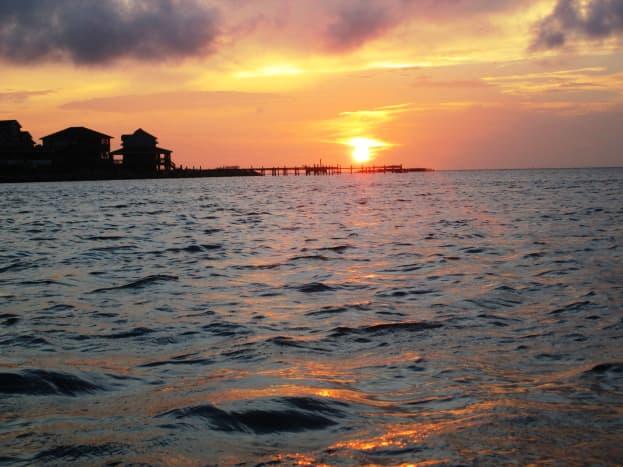 Ocracoke Beach, North Carolina sunset - Outer Banks of North Carolina