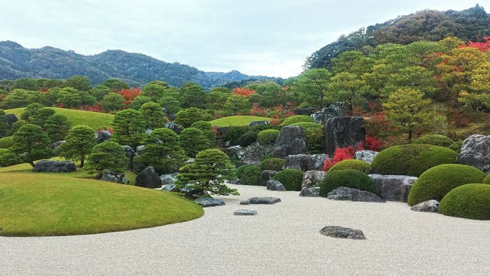 The breathtaking Dry Landscape Garden of the Adachi Museum of Art.