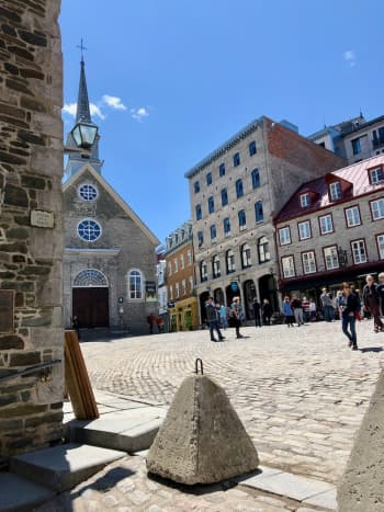 A Charming Square in Le Petit Champlain