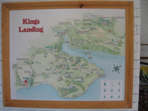 The map of the historic village.