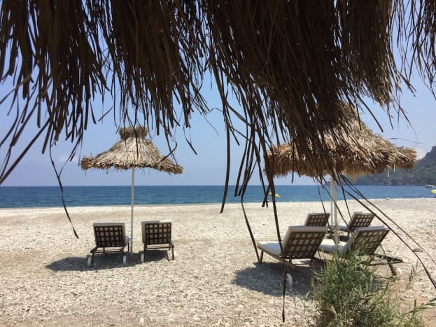 At the south end of Cirali you'll find the most secluded beaches