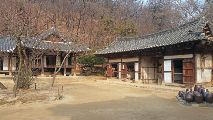 Part of the Korean Folk Village in Yongin