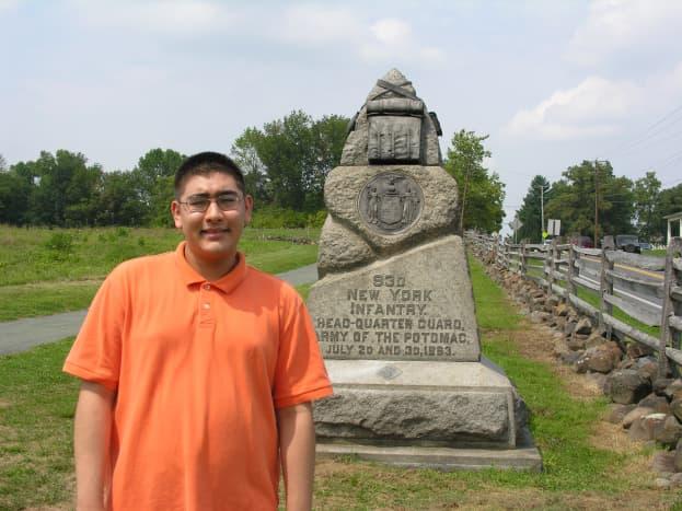 Monument at Gettysburg.