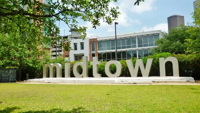 Midtown letters in Bagby Park