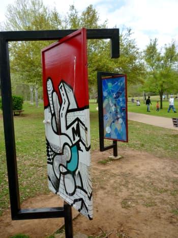 Painted Door sculptures