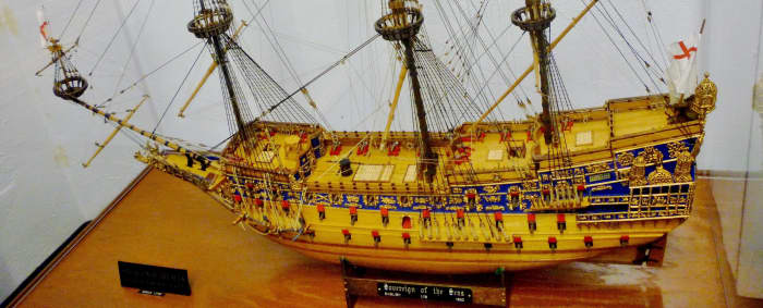 Look at the detailing of Sovereign of the Seas (English) 1630 at Houston Maritime Museum