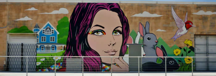 Portion of Mural by Michael C. Rodriguez