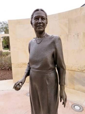 "Closeup of ""Vivian L. Smith"" Sculpture"