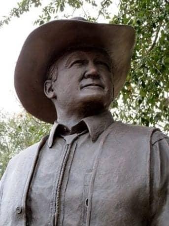 """H. Stuart Lang, Jr."" Sculpture at Astrodome"