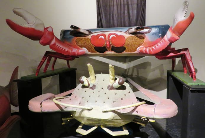 Crab and Lobster Coffins at the National Museum of Funeral History