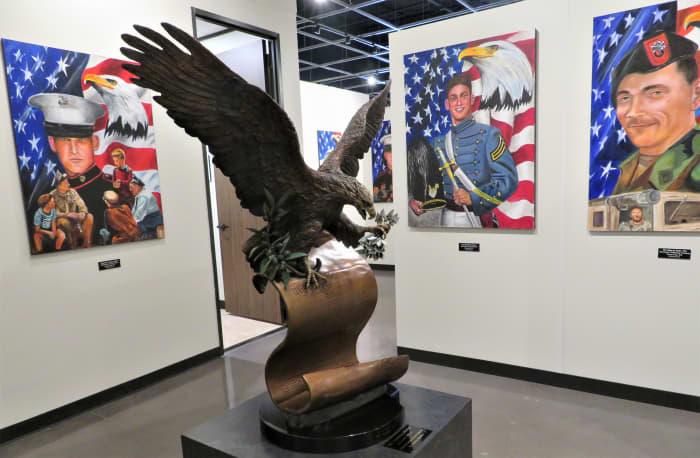 Inside of the Fallen Warriors Memorial Gallery