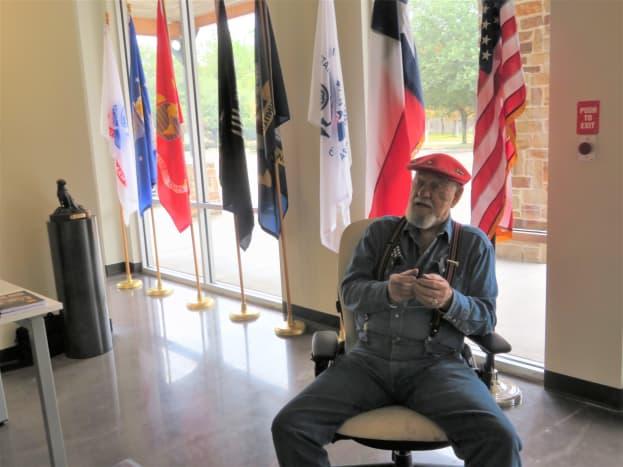 Artist Ken Pridgeon Sr. in the Fallen Warriors Memorial Gallery