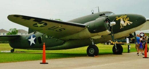 WWII cargo and paratroop transport airplane