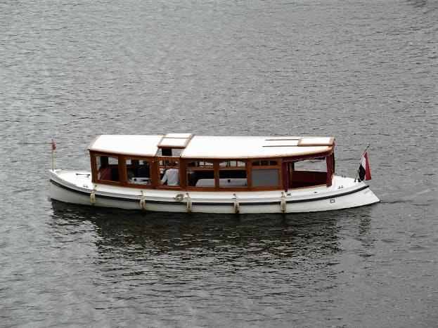 Hotel Amstel saloon boat on the River Amstel.