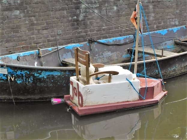 Home made boat for a teddy bear.