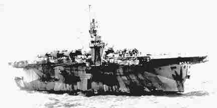 James says he was on the escort carrier ship Natoma Bay in his past life.