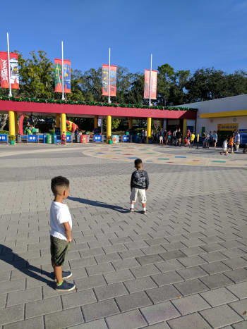 We got to be some of the first guests to enter the park in the morning.