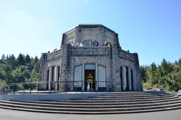 Vista House, a great place to stop and take in the views of the beautiful Columbia River Gorge near Portland