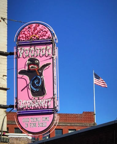 Voodoo Doughnuts in downtown Portland