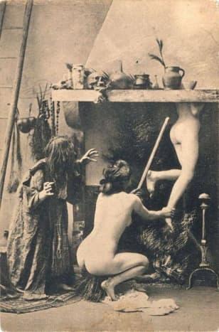 Witches Sabbath in Paris (postcards circa 1900–1910)