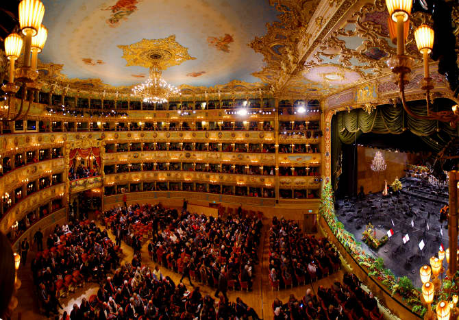 Inside the Fenice Opera House, Venice