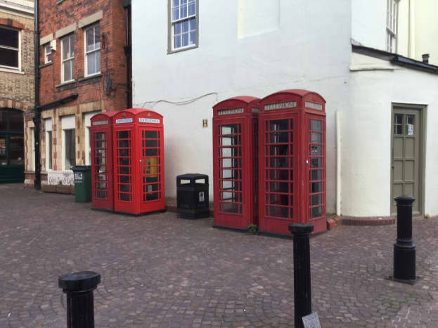 Traditional Telephone Boxes in Newark Market Place