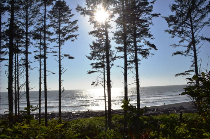 Ruby Beach from the parking area @ Olympic National Park