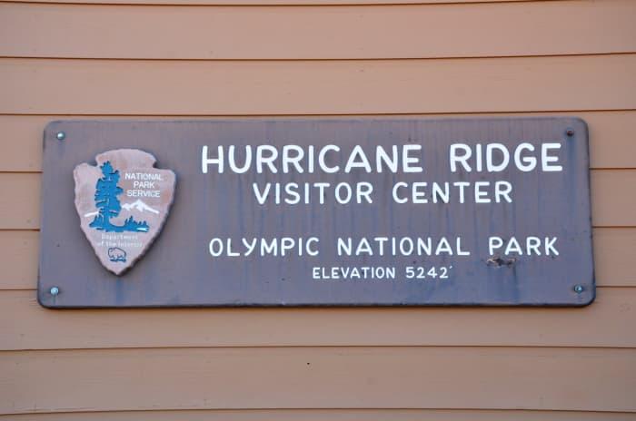 Hurricane Ridge Visitor Center sign @ Olympic National Park