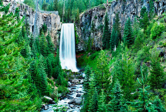 Tumalo Falls from the viewpoint by the parking area.