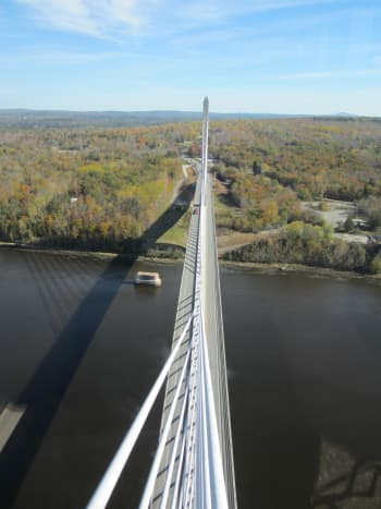 View of the bridge from the observatory