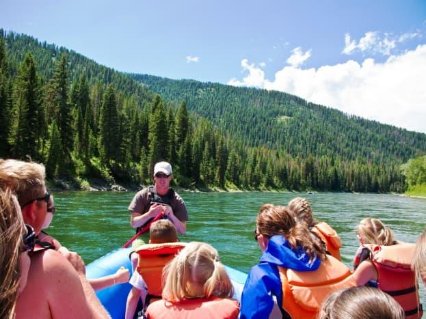 Rafting the Snake River in Grand Teton National Park, Wyoming