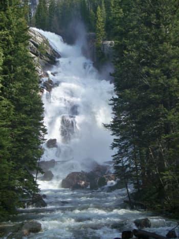Hidden Falls at Grand Teton National Park in Wyoming