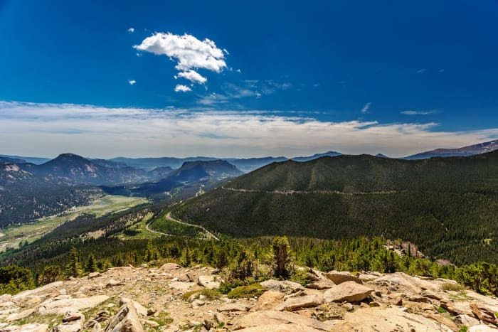 Rainbow Curve Overlook on Trail Ridge Road in Rocky Mountain National Park
