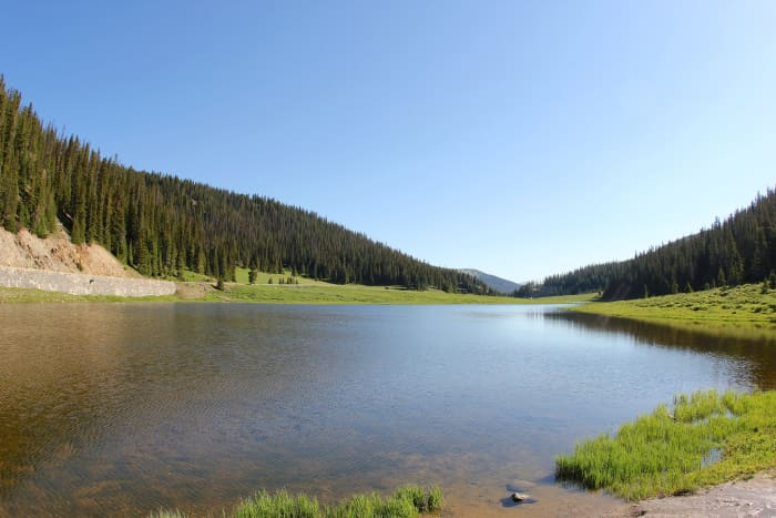 Poudre Lake at Milner Pass on Trail Ridge Road in Rocky Mountain National Park