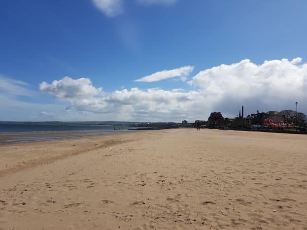Sandy beach at Portobello
