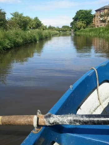 Rowing boat on the canal