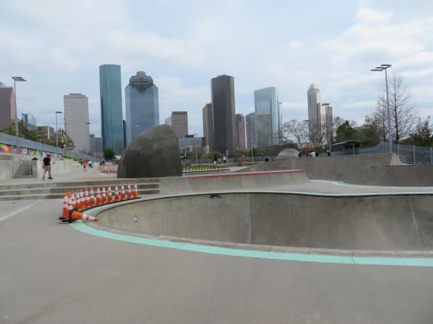 Jamail Skatepark near downtown Houston