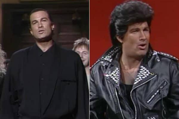 Steven Seagal on his 1991 SNL episode.